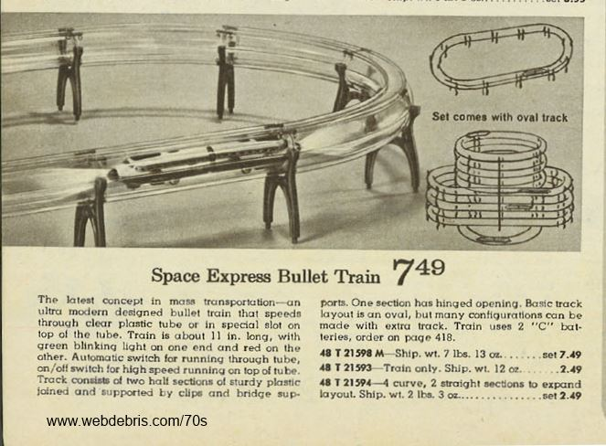 Space Express Bullet Train from 1970